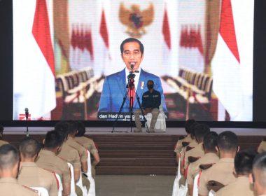 Presiden Jokowi : Capaja TNI-Polri Harus Memiliki Jiwa Ksatria